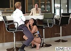 LoveHerFeet - Passionate Sex With Hot Brunette Amia Miley Behind Her Boyfriends Back