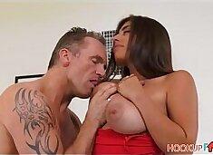 Sexy Big Tits Brunette Latina Stepdaughter Ella Knox Wants Her Stepdad`s Big Cock
