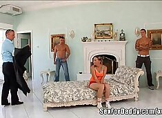 Anal Punishment For Daughter By Daddy And Friends