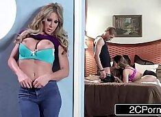 Busty Stepmom vs Horny Stepdaughter FFM 3some - Farrah Dahl & Cassidy Klein