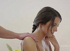 Perky teen titties dripping with jizz