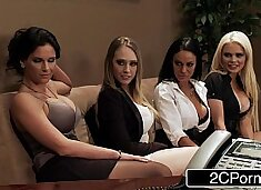 Office Orgy - Alexis Ford, Angelina Valentine, Kagney Linn Karter, Phoenix Marie