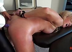 Watch her squirt when I pull my Dildo out of her  ASS  Sally D`angelo Mandy vixen