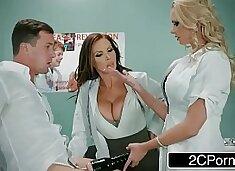 Dirty Nurse Threesome With One Lucky Guy - Nikki Benz, Briana Banks