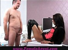 FemaleAgent Lucky amateur gets the casting of a lifetime