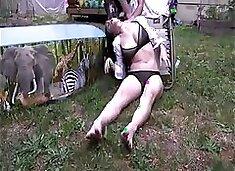 Drunk girl strangle