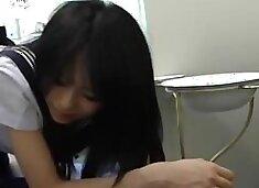 Doctor spy cam figering Japanese Teen School Girl Ass