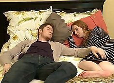 Nasty mature Erica Lauren fucks a hot guy next to his sleeping GF