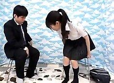 Teen in school uniform fucking hardcore in several positions