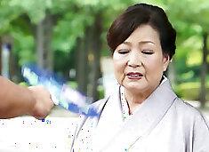Japanese 70 Yrs Grandma Kyoko Narita