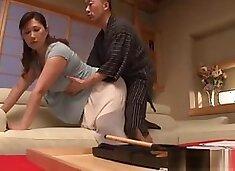 Reiko Shimura mature housewife enjoys rough banging
