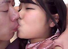 2 Hot Petite Japanese Teens In Schoolgirl Uniform Fucked
