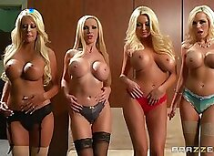 Smoking hot blonde milfs have a group sex with a lucky guy