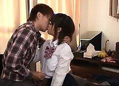 Naughty Asian schoolgirls get their tight slits drilled deep