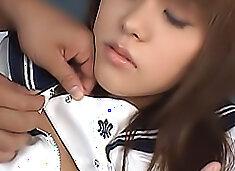 Yume Yumeno is in the classroom in her school uniform