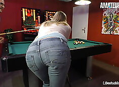 AmateurEuro - Hot Blonde Anja H. Takes Cock On Pool Table