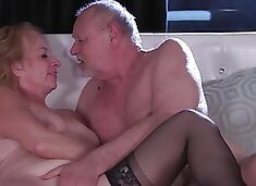 Wife wants to be drilled and anemic old man fingers cunt