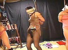 bondage asian three girl