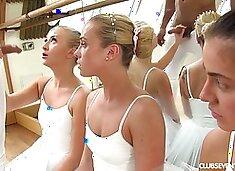 Kinky choreographer fucks Czech ballerina Vinna Reed and her pretty hot girlfriends