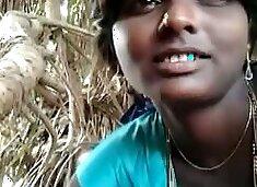 Pakistani dark skin girlfriend gives me head outdoors