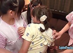 Five Jav Idols Fuck lucky Guy In Their Bedroom Tiny Butts And Tits Really Cute Schoolgirls