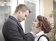 Cute coed Lola Fae gets her tight asshole fingered by her neighbor