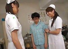 Exotic Japanese model Yuria Shima, Azusa Ito in Best Nurse JAV scene