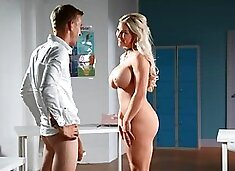 Blonde is rammed by a big prick and covered in jizz