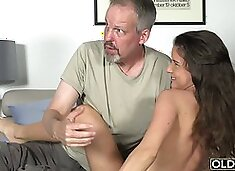 Grandpa wants to spread legs of those two stunning hotties and bang them in many poses