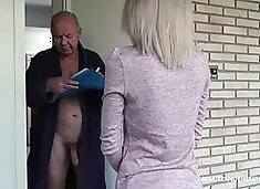 Having visited older neighbor natural beauty Missy Luv gives a nice head