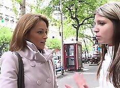 Amazing Szilvia Lauren surprised by the model agent