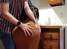 Help! stepson, i`m stuck in the kitchen, fucking with bigtits mom