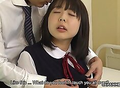 Horny tutor seduces charming Jap college girl Tomoyo Isumi to fuck her hard