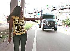 Ebony chick Diamond Mason with huge ass gets fucked hard