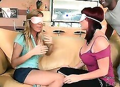 Let`s play a game of musical cock! Put on this blindfold,