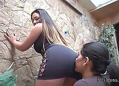 Beauty Latina Ass Licking